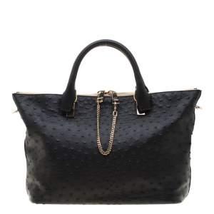 حقيبة يد كلوي بايلي جلد أسود متوسطة