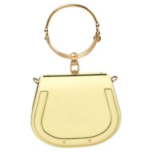 Chloé Yellow Leather and Suede Small Nile Bracelet Shoulder Bag
