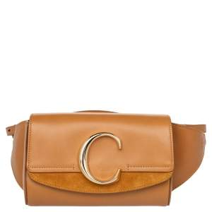 Chloe Tan Leather and Suede C Belt Bag