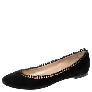 Chloe Black Suede Ballet Flats Size 39.5