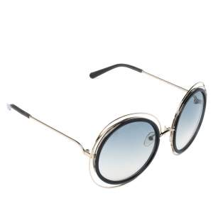 Chloe Gold & Smoke/ Grey Gradient CE120S Carlina Round Sunglasses