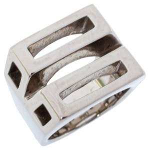 Chloé Silver Tone Bianca Ring Size 52