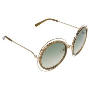 """نظارة شمسية كلوي """"سي إي120/أس كارلينا"""" مستديرة خضراء و كاكي و ذهبية"""