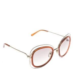 نظارة شمسية كلوي كبيرة كارلينا سي أيه123أس متدرجة بنية فاتحة/ كراميل