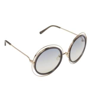 Chloé Gold & Grey / Grey Gradient CE 120/S Carlina Round Sunglasses