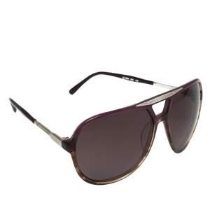 Chloé Purple Havana/ Purple CL2224 Oversized Navigator Sunglasses