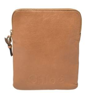 Chloe Brown Leather Ipad Cover