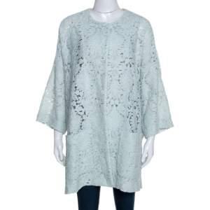 Chloe Mint Green Guipure Lace Oversized Coat S