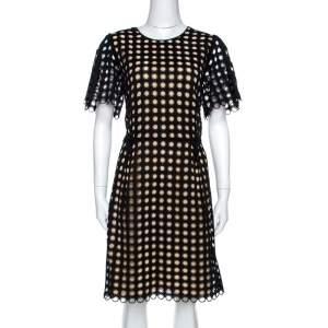 فستان كلوي قطن أسود حلقات مقاس متوسط (ميديوم)