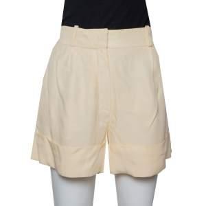 Chloé Cream Crepe Shorts M