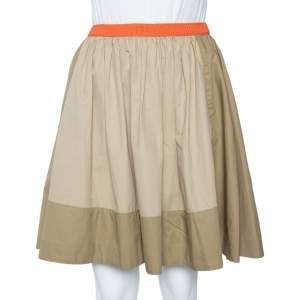 See by Chloe Two Tone Cotton Contrast Waist Flared Waist S