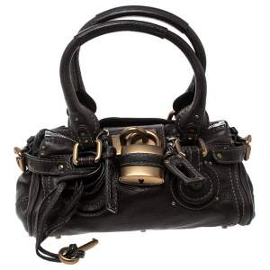 Chloe Dark Brown Leather Mini Paddington Satchel