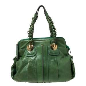 حقيبة كلوي هولواز جلد خضراء