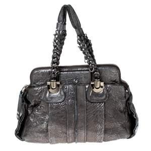 حقيبة كلوي هيلواز جلد فضية