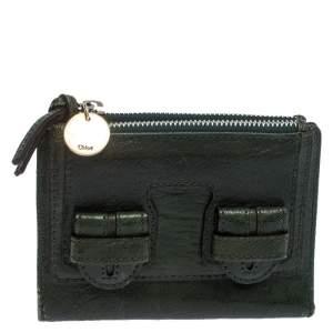 Chloe Green Leather Bifold Wallet