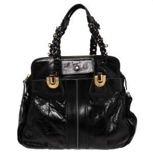 Chloe Black Leather Heloise Satchel