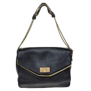 Chloe Black Leather Sally Shoulder Bag