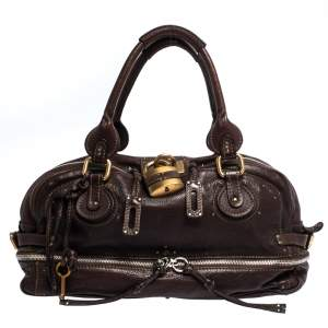 Chloe Dark Brown Leather Paddington Zipped Satchel