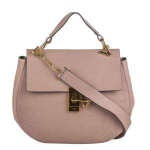Chloe Light Pink/ Pink Lambskin Leather Large Drew Bag