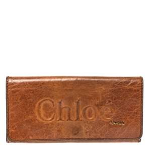 Chloe Tan Leather Continental Wallet