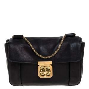 Chloe Black Leather Medium Elsie Shoulder Bag