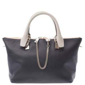 Chloe Grey Leather Baylee Tote Bag