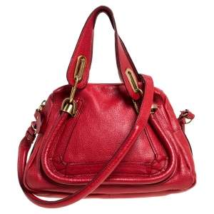 Chloe Red Leather Small Paraty Shoulder Bag
