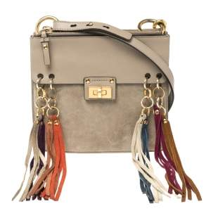Chloe Taupe Leather Small Jane Shoulder Bag