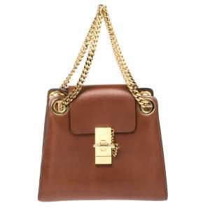 Chloé Brown Leather Annie Shoulder Bag