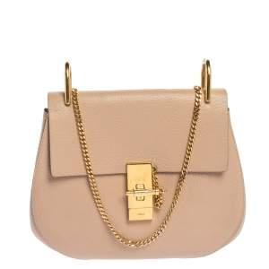 Chloe Blush Pink Leather Medium Drew Shoulder Bag