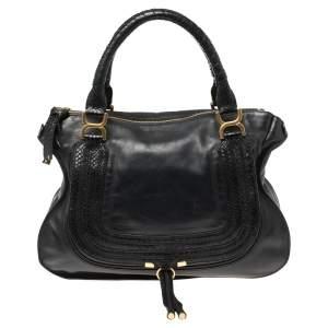 Chloe Black Leather Large Marcie Satchel