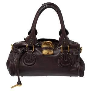 Chloe Dark Brown Leather Medium Paddington Satchel