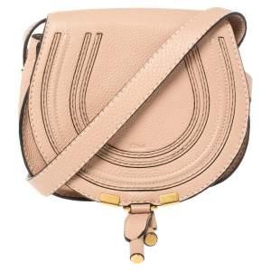Chloe Powder Pink Leather Mini Marcie Crossbody Bag