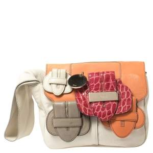 Chloe Multicolor Leather Saskia Clutch Bag