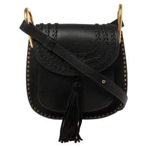 Chloe Black Leather Small Hudson Shoulder Bag