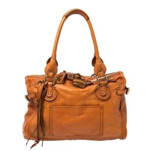 Chloe Brown Leather Large Paddington Satchel