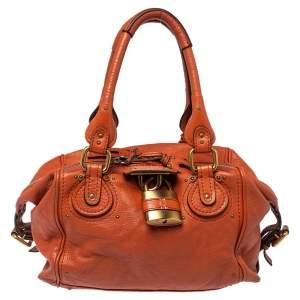 حقيبة كلوي بادينغتون جلد برتقالي محروق