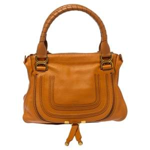 Chloe Tan Leather Medium Marcie Shoulder Bag
