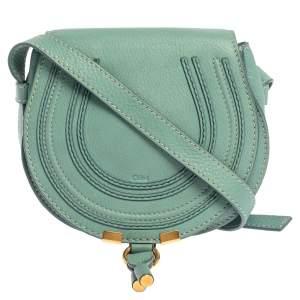 Chloe Fresh Mint Blue Leather Mini Marcie Crossbody Bag