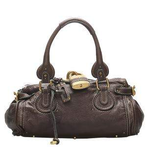 Chloe Brown/Dark Brown Leather Paddington Bag