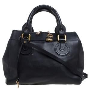 Chloe Black Leather Aurore Pure Paddington Tote