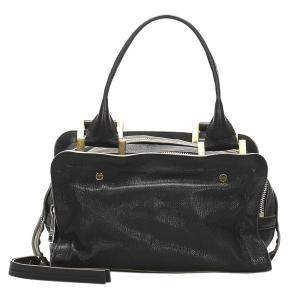 Chloe Black Leather Dalston Satchel Bag