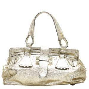 Chloe Gold Metallic Leather Shoulder Bag