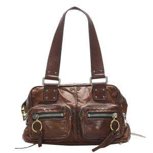Chloe Brown Leather Betty Tote Bag
