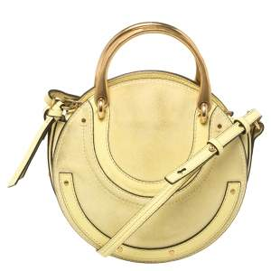 Chloe Yellow Leather and Suede Small Pixie Shoulder Bag
