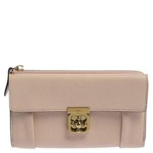 Chloe Pink Powder Leather Elsie Continental Wallet