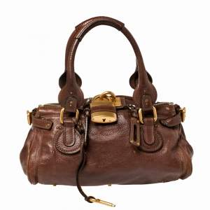 Chloe Choco Brown Leather Medium Paddington Satchel