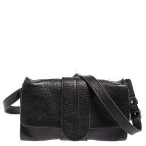 Chloé Black Leather Flap Shoulder Bag