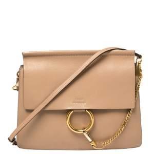 Chloe Beige Leather Medium Faye Shoulder Bag