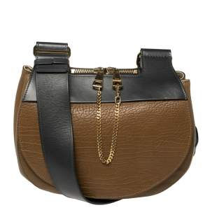 Chloe Tri Color Leather Drew Saddle Bag